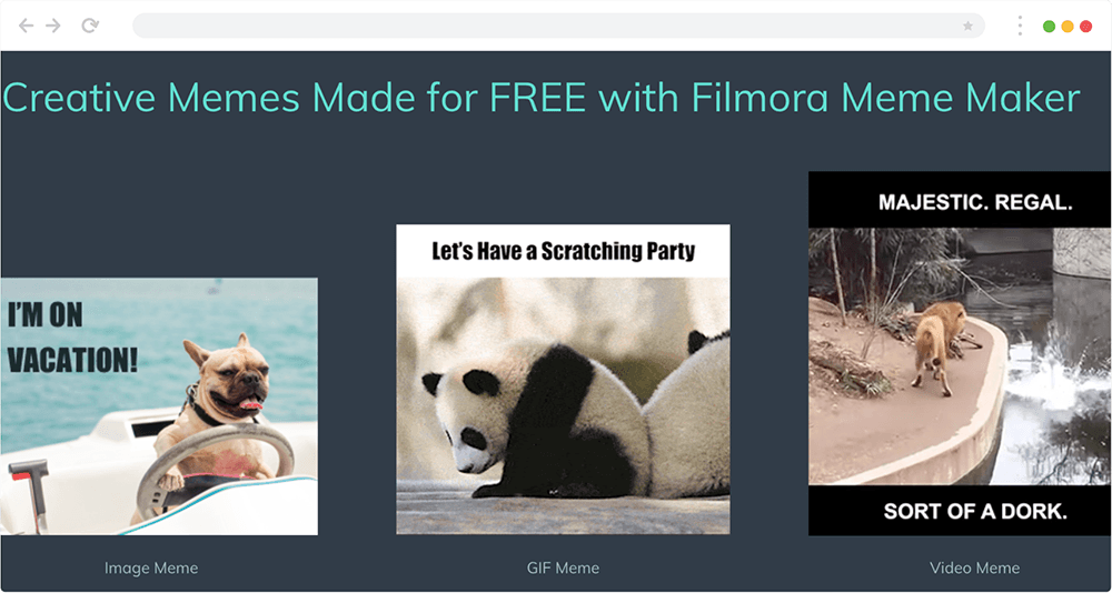 Image result for How To Create Free Online Meme Maker With Filmora