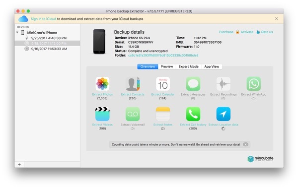 Best iPhone/iTunes/iCloud Backup Extractor Software 2017