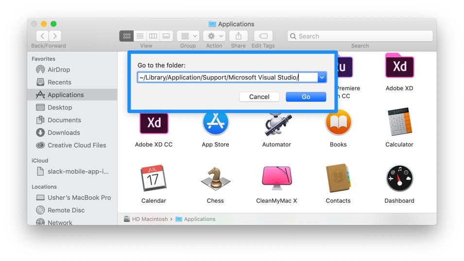 Uninstall Visual Studio Mac] Cannot Uninstall Microsoft