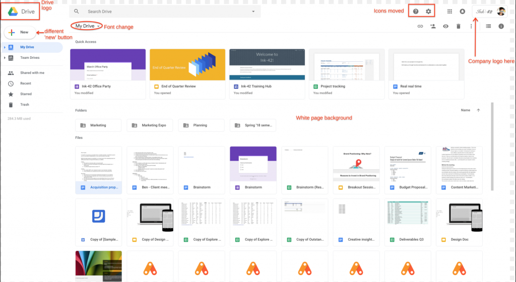 Google Drive Gets New Interface To Match Redesigned Gmail